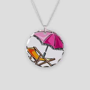 BEACH CHAIR [3] Necklace Circle Charm